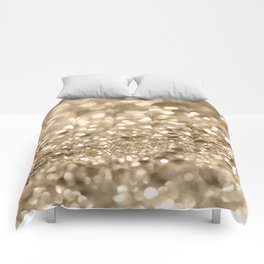 Champagne Gold Lady Glitter #2 #shiny #decor #art #society6 Comforters