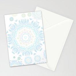 light blue mandalas pattern Stationery Cards