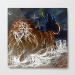 Amazing Lion Artwork. Metal Print