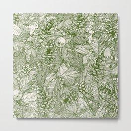 forest floor green ivory Metal Print