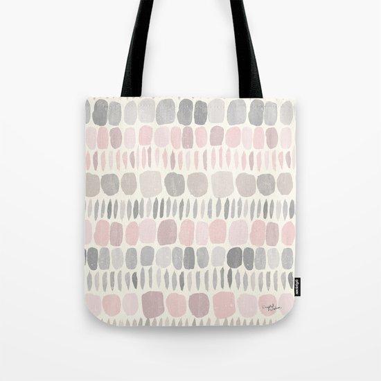 Soft Blush Stones Tote Bag
