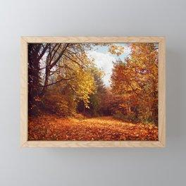 lost in the woods Framed Mini Art Print