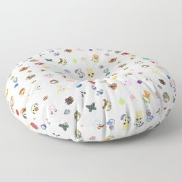 animal crossing pattern Floor Pillow
