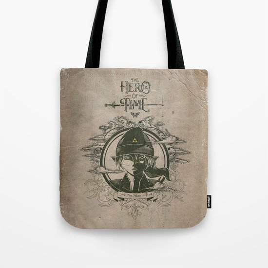 Legend of Zelda Link the Hero of Time Vintage Book Cover Tote Bag