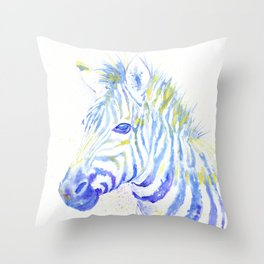 Quiet Zebra Throw Pillow