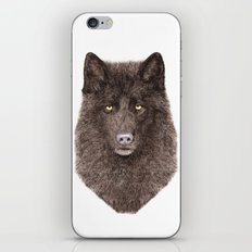 Black Wolf iPhone & iPod Skin
