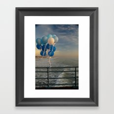 Santa Monica pier 4 Framed Art Print