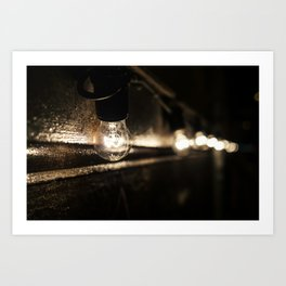 Street bulbs Art Print
