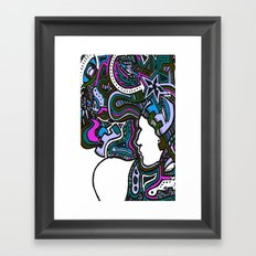 Purple Techno Framed Art Print