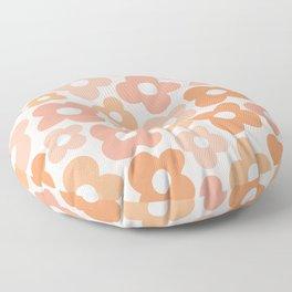 Peachy Pink Flower Power Floor Pillow