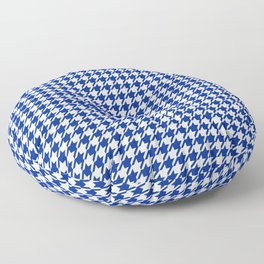 Houndstooth Classic Blue Floor Pillow