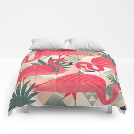 Retro Flamingo Patter Comforters