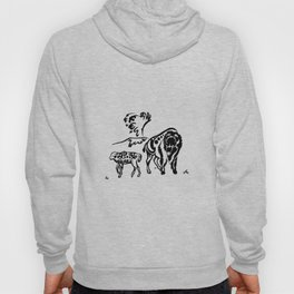 Yellowstone Tribal Series - Bison with geyser Hoody