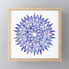 Mandala Vivid Blue Framed Mini Art Print