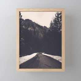 Foggy Forest Road - Lets Get Wild Nature Photography Framed Mini Art Print