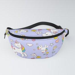 Unicorn Lilac Pattern Fanny Pack