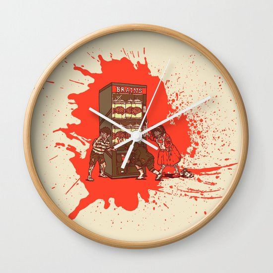 Hurry up, someone is coming! Wall Clock