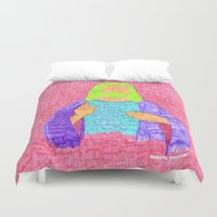 christ Duvet Covers featuring jesus christ by Marina Nosequé
