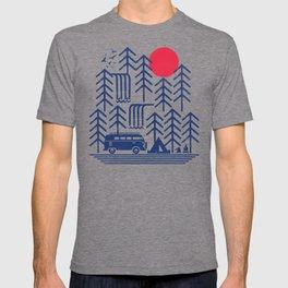 Camping Days / Van nature minimal birds sun T-shirt