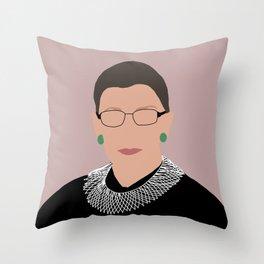 Ruth Bader Ginsburg Pink Throw Pillow