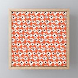Daisies In The Summer Breeze - Orange White Black Framed Mini Art Print