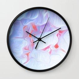 Pink Peony Heart Wall Clock