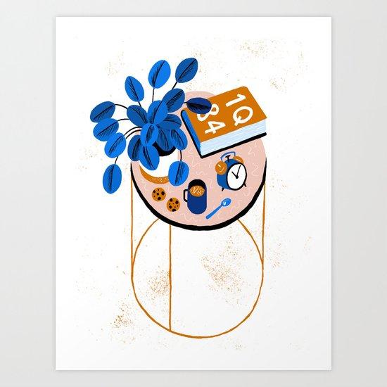 Murakami and Cookies Art Print