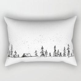 Summer Camp Night Rectangular Pillow