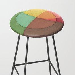Concentric Circles Forming Equal Areas Bar Stool