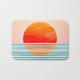 Minimalist Sunset III Bath Mat