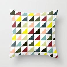 Mid-century triangles Throw Pillow