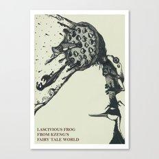 Lascivious Frog Canvas Print