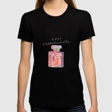 Perfume Coco Mademoiselle Illustration Womens Fitted Tee Black MEDIUM