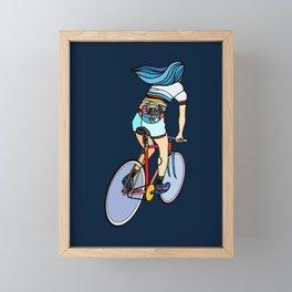 Fixie Girl Framed Mini Art Print