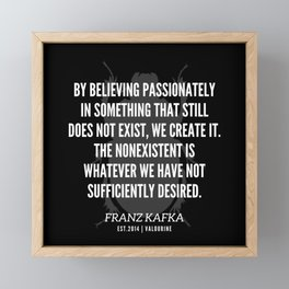 17  |  Franz Kafka Quotes | 190517 Framed Mini Art Print