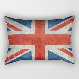 "UK British Union Jack flag ""Bright"" retro Rectangular Pillow"