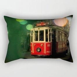 red tram in bubbles Rectangular Pillow