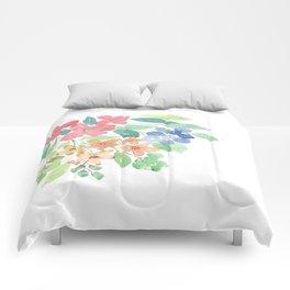 Cluster of flowers Comforters