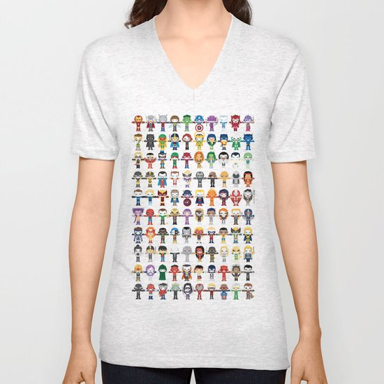 THE ULTIMATE 'AVENGER'S' ROBOTIC COLLECTION Unisex V-Neck
