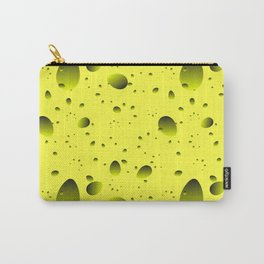 Large yellow drops and petals on a light background in nacre. Carry-All Pouch