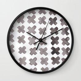 Watercolor Xs Wall Clock