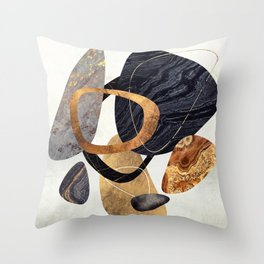 Abstract Pebbles III Throw Pillow