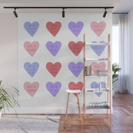 carmilla candy hearts Wall Mural