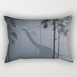 Dinosaur by Moonlight Rectangular Pillow