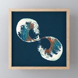 The Wave is forever Framed Mini Art Print