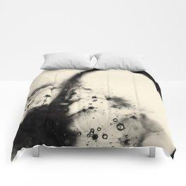 dandelion black Comforters