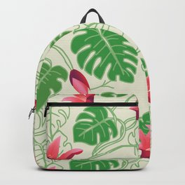 Tropical Pattern in Pink and Green Backpack