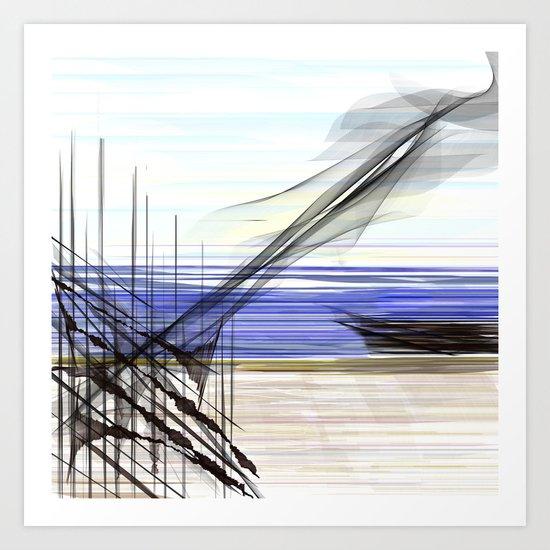 At Sea Art Print