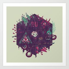 Die of Death Art Print