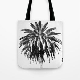 palm vintage black & white Tote Bag